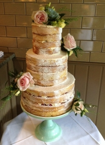 Naked Wedding Cakes West Sussex, Hampshire, Surrey and Dorset