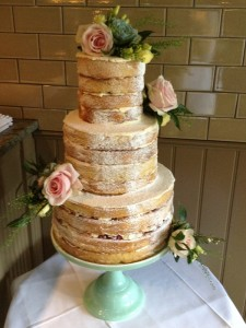 Naked wedding cake West Sussex