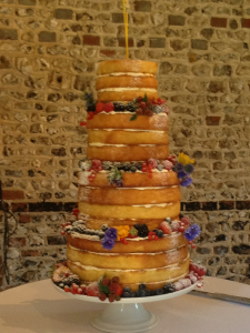 naked wedding cake Hampshire